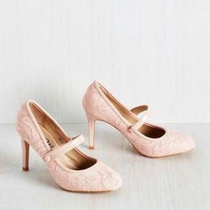 Modcloth Pink MaryJane Lady of the Luncheon Heels